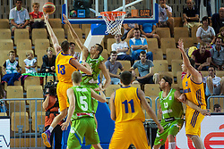 Jure Balazic of Slovenia during friendly basketball match between National teams of Slovenia and Ukraineat day 1 of Adecco Cup 2015, on August 21 in Koper, Slovenia. Photo by Grega Valancic / Sportida