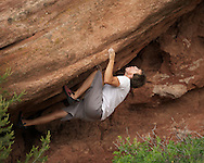 Gp Salvo projecting choss at The Garden of the Gods, CO