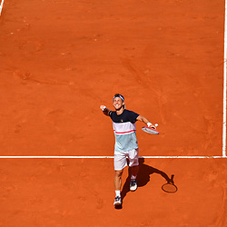 Diego Schwartzman of Argentina celebrates beating Kevin Anderson of South Africa in five sets after saving two match points during Day 9 of the French Open 2018 on June 3, 2018 in Paris, France. (Photo by Dave Winter/Icon Sport)
