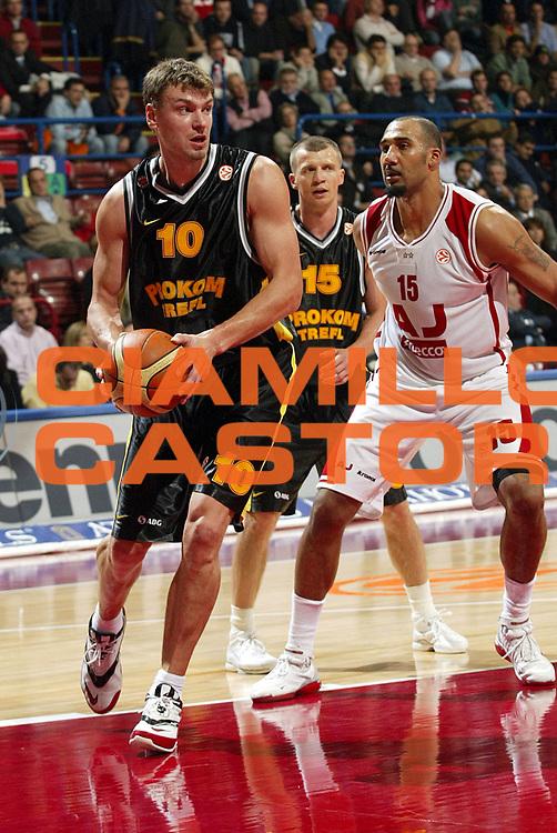 DESCRIZIONE : Milano Eurolega 2005-06 Armani Jeans Milano Prokom Trefl Sopot<br />GIOCATORE : Wojcik<br />SQUADRA : Prokom Trefl Sopot<br />EVENTO : Eurolega 2005-2006<br />GARA : Armani Jeans Milano Prokom Trefl Sopot<br />DATA : 17/11/2005<br />CATEGORIA : Passaggio<br />SPORT : Pallacanestro<br />AUTORE : Agenzia Ciamillo-Castoria/S.Ceretti