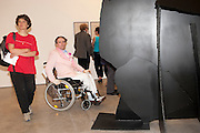 GABRIELE MAGNANI;, IN WHEELCHAIR, Jake or Dinos Chapman, White Cube, Mason's Yard and afterwards at The Tab Centre, Austin Street, London E2. 14 July 2011. <br /> <br />  , -DO NOT ARCHIVE-© Copyright Photograph by Dafydd Jones. 248 Clapham Rd. London SW9 0PZ. Tel 0207 820 0771. www.dafjones.com.