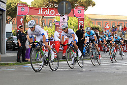 Napoli, Italy - Giro d'Italia - May 4, 2013 - Peloton with Argos and Quickstep in front