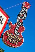 The main entrance of the Austin City Limits Music Festival 2010, Austin Texas, October 5, 2010.  The Austin City Limits Music Festival is an annual three-day music festival in Austin, Texas's Zilker Park.
