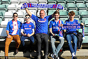 Carlisle fans who have made the long trip to Yeovil for the Sky Bet League 2 match between Yeovil Town and Carlisle United at Huish Park, Yeovil, England on 25 March 2016. Photo by Graham Hunt.