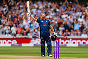 England ODI batsman Jonny Bairstow scores a 100 and a century during the third Royal London One Day International match between England and Australia at Trent Bridge, West Bridgford, United Kingdom on 19 June 2018. Picture by Simon Davies.