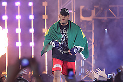 Feb 12, 2011; East Rutherford, NJ; USA; Antonio Silva heads to the ring for his fight against Fedor Emelianenko at the IZOD Center in East Rutherford, NJ.  Silva won via doctor stoppage at the end of the second round.