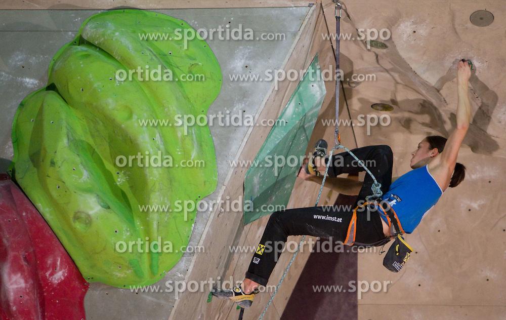 Katharina Posch of Austria during Final IFSC World Cup Competition in sport climbing Kranj 2010, on November 14, 2010 in Arena Zlato polje, Kranj, Slovenia. (Photo By Vid Ponikvar / Sportida.com)
