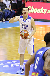 November 27, 2017 - Quezon City, NCR, Philippines - Kai -Yan Lee (66) of Chinese Taipei tries to call for a play during their match against the Philippines to qualify for the 2019 FIBA Basketball World Cup in China..Gilas Pilipinas defeated the visiting Chinese Taipei team 90-83 to complete a sweep of their first two assignments in the FIBA 2019 World Cup qualifiers. (Credit Image: © Dennis Jerome S. Acosta/Pacific Press via ZUMA Wire)