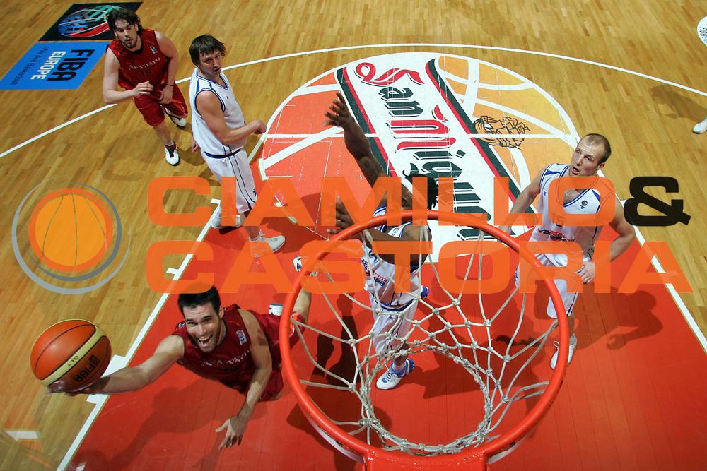 DESCRIZIONE : Girona EuroCup Final Four 2007 Finale Azovmash Mariupol Akasvayu Girona<br /> GIOCATORE : San Emeterio<br /> SQUADRA : Akasvayu Girona<br /> EVENTO : EuroCup Final Four 2007 <br /> GARA : Girona EuroCup Final Four 2007 Finale Azovmash Mariupol Akasvayu Girona<br /> DATA : 15/04/2007 <br /> CATEGORIA : Special<br /> SPORT : Pallacanestro <br /> AUTORE : Agenzia Ciamillo-Castoria/E.Castoria<br /> Galleria : Fiba Eurocup 2006-2007 <br /> Fotonotizia : Girona EuroCup Final Four 2007 Finale Azovmash Mariupol Akasvayu Girona<br /> Predefinita :