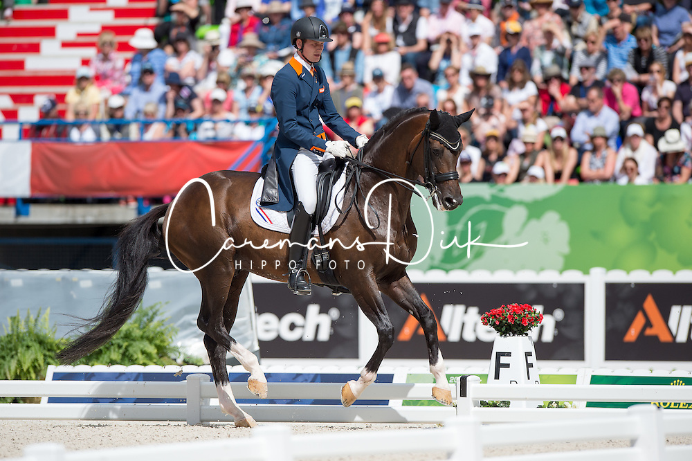 Diederik Van Silfhout, (NED), Arlando NH NOP - Freestyle Grand Prix Dressage - Alltech FEI World Equestrian Games&trade; 2014 - Normandy, France.<br /> &copy; Hippo Foto Team - Jon Stroud<br /> 25/06/14