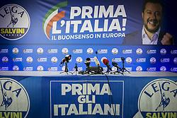 Italy, Milan - May 26, 2019.European Parliament elections.Italian exit polls indicate Matteo Salvini's right-wing populist League is leading (Credit Image: © De Grandis/Fotogramma/Ropi via ZUMA Press)