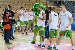 Jaka Blazic of Slovenia during friendly basketball match between National teams of Slovenia and Ukraine at day 1 of Adecco Cup 2015, on August 21 in Koper, Slovenia. Photo by Grega Valancic / Sportida