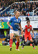 Portsmouths Adam McGurk scores his 2nd goal during the The FA Cup match between Portsmouth and Macclesfield Town at Fratton Park, Portsmouth, England on 7 November 2015. Photo by Adam Rivers.