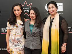 Photo-opportunity for The Receptionist directed by Jenny Lu at the Edinburgh International Film Festival<br /> <br /> Pictured: Shuang Teng, Jenny Lu, Sophie Gopsill