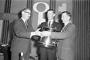 20/5/1965<br /> 5/20/1965<br /> 20 May 1965<br /> <br /> Mr. Nolan Chairman of Irish Shell and BP Ltd.; Mr. Hugh Ryan President Macra na Ferme; Mr. Willie Clegg Captian of winning farm tasks team