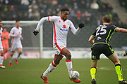 MK Dons Chuks Aneke(10) strides forward during the EFL Sky Bet League 1 match between Milton Keynes Dons and Bristol Rovers at stadium:mk, Milton Keynes, England on 3 March 2018. Picture by Nigel Cole.