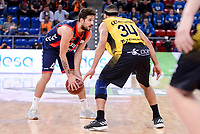 Baskonia's Nico Laprovittola and Iberostar Tenerife's David White during Quarter Finals match of 2017 King's Cup at Fernando Buesa Arena in Vitoria, Spain. February 16, 2017. (ALTERPHOTOS/BorjaB.Hojas)