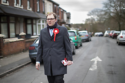 © Licensed to London News Pictures . 19/02/2017. Stoke-on-Trent, UK. GARETH SNELL canvassing in the Cliffe Vale district of Stoke . John McDonnell joins Gareth Snell - the party's candidate for the seat of Stoke-on-Trent Central , in the by-election campaign . Photo credit: Joel Goodman/LNP