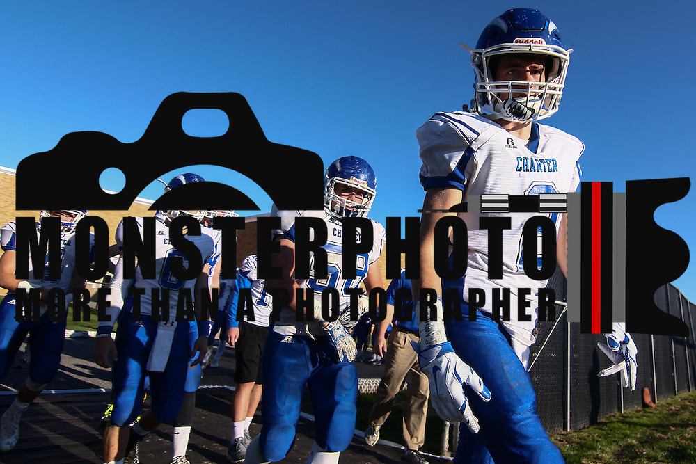 Charter School of Wilmington takes the field for the second half during a Week 9 DIAA football game between William Penn and Charter School of Wilmington Saturday, Nov. 05, 2016, at William Penn Stadium in New Castle.