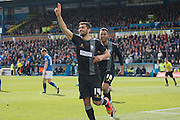 Mansfield Town Midfielder Colin Daniel celebrates the opening goal during the Sky Bet League 2 match between Carlisle United and Mansfield Town at Brunton Park, Carlisle, England on 9 April 2016. Photo by Craig McAllister.