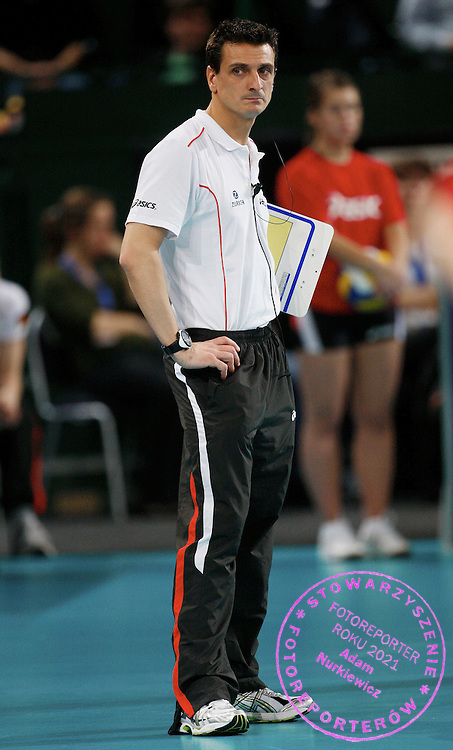 HALLE 18/01/2008.EUROPEAN VOLLEYBALL WOMEN'S OLIMPIC QUALIFICATION.SEMIFINAL.GERMANY v RUSSIA.GIOVANNI GUIDETTI - HEAD COACH OF GERMANY ..FOT. PIOTR HAWALEJ / WROFOTO