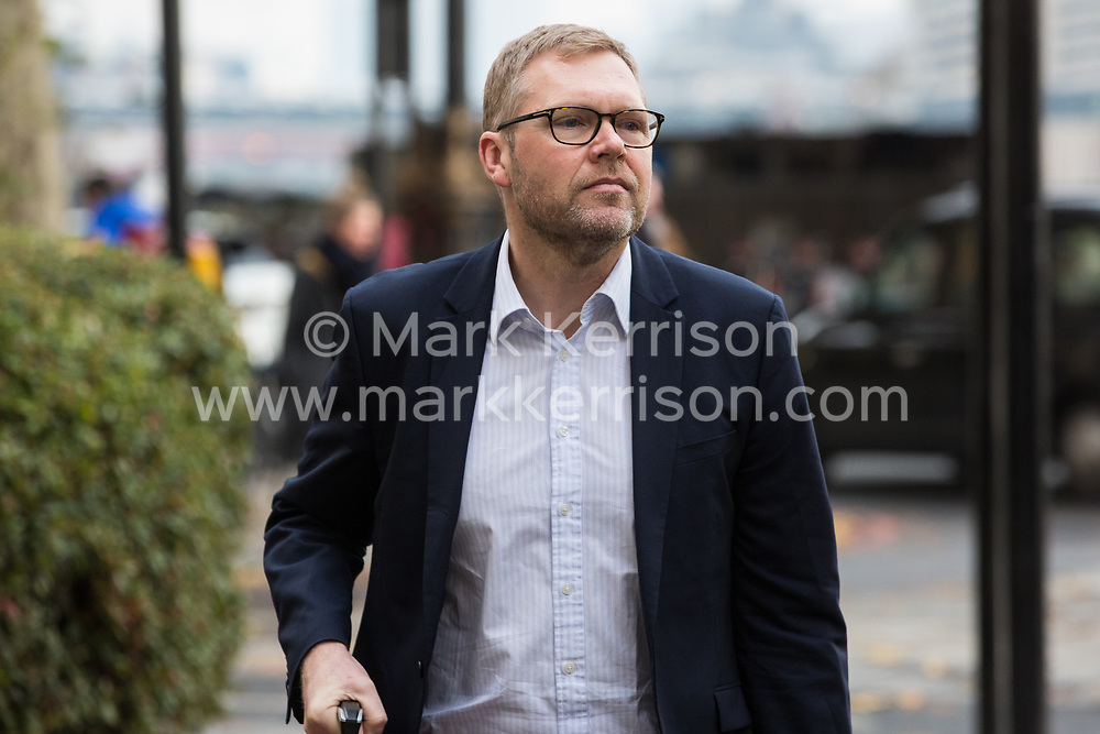 London, UK. 16 November, 2019. Nick Forbes, Labour leader of Newcastle City Council, arrives at Labour's Clause V meeting. Credit: Mark Kerrison/Alamy Live News