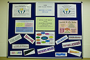 A noticeboard for student prisoners. HMP The Mount, Bovingdon, Hertfordshire