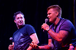 CHARLOTTE, USA - Saturday, July 21, 2018: Liverpool FC legend John Arne Riise on stage at a Legends show at the Rooftop 102 in the Epicentre Charlotte ahead of a preseason International Champions Cup match between Borussia Dortmund and Liverpool FC in Charlotte. (Pic by David Rawcliffe/Propaganda)