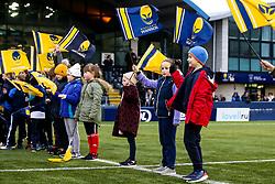 Worcester Warriors flag bearers - Mandatory by-line: Robbie Stephenson/JMP - 11/01/2020 - RUGBY - Sixways Stadium - Worcester, England - Worcester Warriors v Enisei-STM - European Rugby Challenge Cup