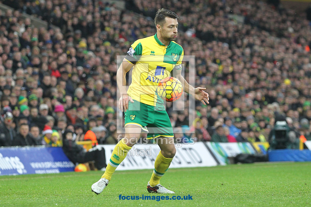 Russell Martin of Norwich in action during the Barclays Premier League match at Carrow Road, Norwich<br /> Picture by Paul Chesterton/Focus Images Ltd +44 7904 640267<br /> 12/12/2015