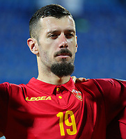 PODGORICA, MONTENEGRO - JUNE 07: Aleksandar Scekic of Montenegro before the 2020 UEFA European Championships group A qualifying match between Montenegro and Kosovo at Podgorica City Stadium on June 7, 2019 in Podgorica, Montenegro MB Media