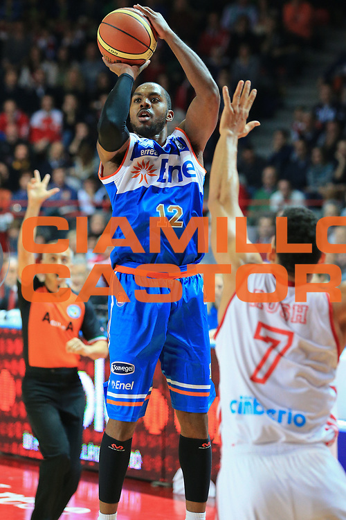 DESCRIZIONE : Varese Lega A 2012-13 Cimberio Varese Enel Brindisi <br /> GIOCATORE : Lewis Ron<br /> CATEGORIA : Tre punti<br /> SQUADRA : Enel Brindisi<br /> EVENTO : Campionato Lega A 2013-2014<br /> GARA : Cimberio Varese Enel Brindisi<br /> DATA : 17/11/2013<br /> SPORT : Pallacanestro <br /> AUTORE : Agenzia Ciamillo-Castoria/I.Mancini<br /> Galleria : Lega Basket A 2013-2014  <br /> Fotonotizia : Varese Lega A 2013-2014 Cimberio Varese Enel Brindisi<br /> Predefinita :