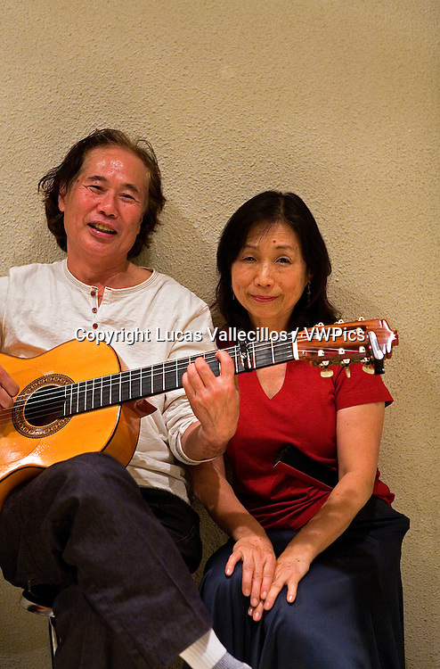Mieko and Hideo Oki. Two lovers of Flamenco,Tokyo, Japan