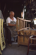 Man making & repairing chairs, Rethymnon Crete Greece...., Travel, lifestyle