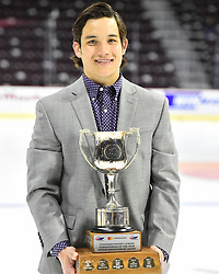 Tyler Wong of the Lethbridge Hurricanes won the Mastercard Humanitarian of the Year Award.<br /> Photo by Aaron Bell/CHL Images