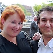 NLD/Amsterdam/20110731 - Premiere circus Hurricane met Hans Klok, Eva van der Gucht en partner Domenica Mertens
