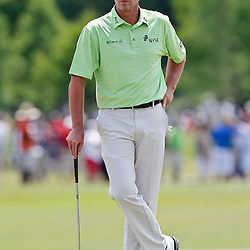 Apr 29, 2012; Avondale, LA, USA; Steve Stricker on the ninth hole during the final round of the Zurich Classic of New Orleans at TPC Louisiana. Mandatory Credit: Derick E. Hingle-US PRESSWIRE