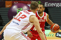 September 17, 2018 - Gdansk, Poland - Rok Stipcevic (6) of Croatia in action against Adam Waczysnki (12) of Poland is seen in Gdansk, Poland on 17 September 2018  Poland faces Croatia during the Basketball World Cup China 2019 Qualifiers game in the ERGO Arena sports hall in Gdansk  (Credit Image: © Michal Fludra/NurPhoto/ZUMA Press)