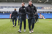 Forest Green Rovers Christian Doidge(9) and Forest Green Rovers goalkeeper James Montgomery during the EFL Sky Bet League 2 match between Oldham Athletic and Forest Green Rovers at Boundary Park, Oldham, England on 12 January 2019.