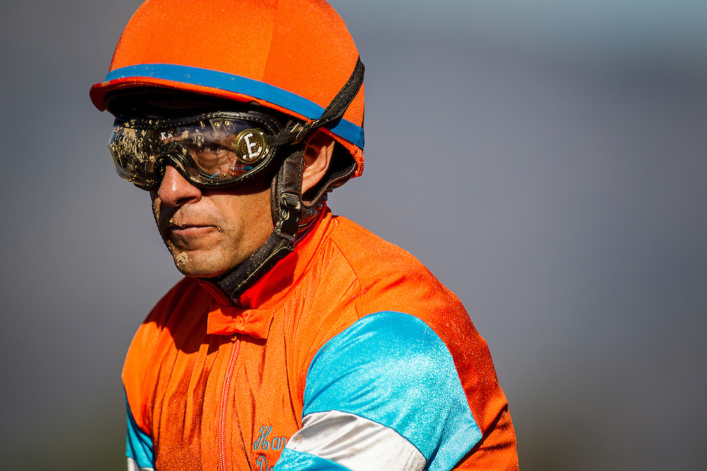 September 26 2015: Victor Epinoza at Santa Anita Park, Arcadia CA. Alex Evers/ESW/CSM