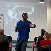 Ty opens the floor and the evnt. The Power of IF was a free event organised by ActionAid and other organisations for the Enough Food for Everyone IF campaign. The event in London invied 16-25yr olds to come together to find out more about the campaign. The event was a mix of inspirational speakers and interactive workshops and was hosted by the British hip hop artist TY.