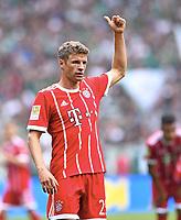 Thomas Mueller (Bayern)<br /> Bremen, 26.08.2017, Fussball Bundesliga, SV Werder Bremen - FC Bayern München 0:2<br /> <br /> Norway only