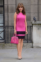 Carol Vorderman models linen shift dress for Isme.com at India Place, London, WC3B on Thursday 5th June 2014