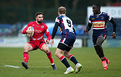 Jordan Williams of Bristol Rugby takes on Michael Heaney of Doncaster Knights - Mandatory by-line: Robbie Stephenson/JMP - 02/12/2017 - RUGBY - Castle Park - Doncaster, England - Doncaster Knights v Bristol Rugby - Greene King IPA Championship
