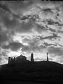 1957 View - Rock of Castle Silhouette