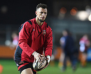 Dragons' Zane Kirchner during warm up<br /> <br /> Photographer Mike Jones/Replay Images<br /> <br /> Guinness PRO14 Round Round 18 - Dragons v Cheetahs - Friday 23rd March 2018 - Rodney Parade - Newport<br /> <br /> World Copyright © Replay Images . All rights reserved. info@replayimages.co.uk - http://replayimages.co.uk