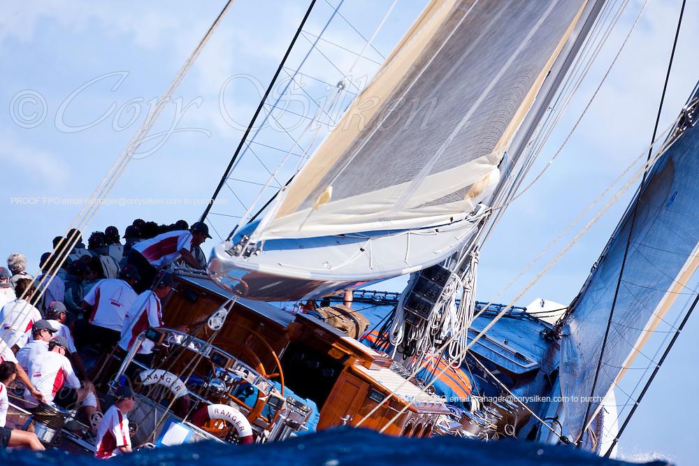 ranger, J Class, sailing in The Superyacht Cup regatta, Antigua 2010, race one.