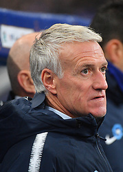 France's head coach Didier Deschamps during France v Uruguay friendly football match at the Stade de France in Saint-Denis, suburb of Paris, France on November 20, 2018. France won 1-0. Photo by Christian Liewig/ABACAPRESS.COM