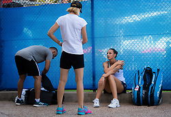 January 2, 2019 - Brisbane, AUSTRALIA - Karolina Pliskova of the Czech Republic warms up for her second-round match at the 2019 Brisbane International WTA Premier tennis tournament (Credit Image: © AFP7 via ZUMA Wire)