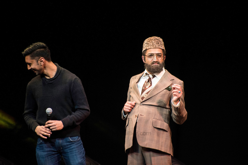Citizen Khan helped two fans get engaged on stage as part of the opening night of his UK tour last night at the Alhambra Theatre in Bradford.<br /> Andrew Haughey, 43, from Bradford, has been with his girlfriend Joanne Rand, 41, for just over a year and following a botched operation that led to borderline kidney failure, he realised that life is short and decided to propose during the show on Monday night.<br /> Andrew is the Vice Principle at a school for disadvantaged children next to Bradford Football Club and Joanne works with disabled children in the city too.<br /> After getting in touch with the show's creator and star, Adil Ray, Andrew and Joanne were invited on stage to take part in the Mr and Mrs themed part of the show. After the game, Citizen Khan asked Andrew if they were married and when Andrew replied that they weren't, Citizen Khan asked what he intended to do about that - at which point Andrew got down on one knee to propose with a ring that he'd bought in Citizen Khan's home town of Birmingham.<br /> The Citizen Khan UK Tour visits venues across the country until 7th May and will be at the Grand Theatre in Birmingham on Thursday 28th April.